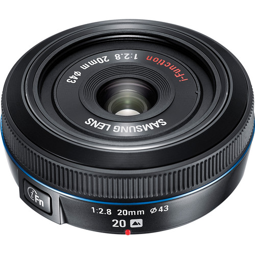 Samsung 20mm f/2.8 Pancake Lens for NX10 / NX100 (Black)