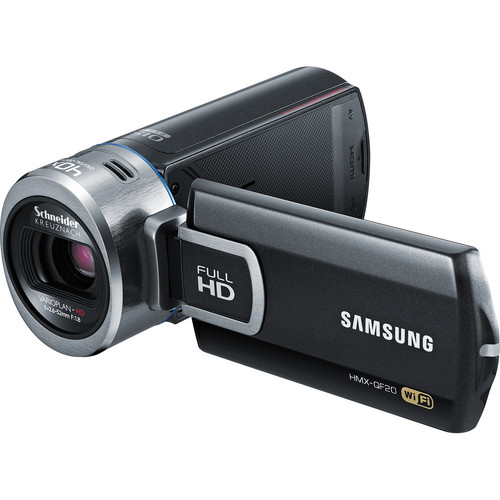 Samsung HMX-QF20 HD Flash Camcorder with Wi-Fi (Black)