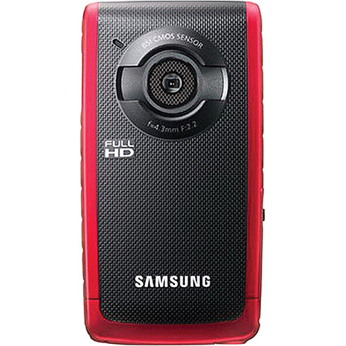 Samsung HMX-W190 5.5MP HD Pocket Camcorder (Red)