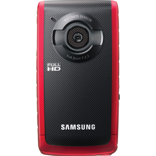 Samsung W200 Rugged Full HD 1080p Pocket Camcorder (Red)