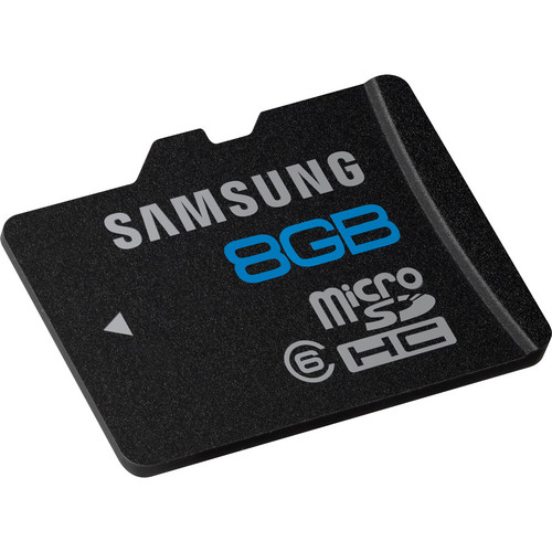 Samsung 8GB microSDHC Memory Card High Speed Series Class 6 With SD Adapter