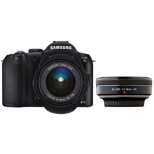 Samsung NX-10 Digital Camera with 18-55mm & 30mm Lenses