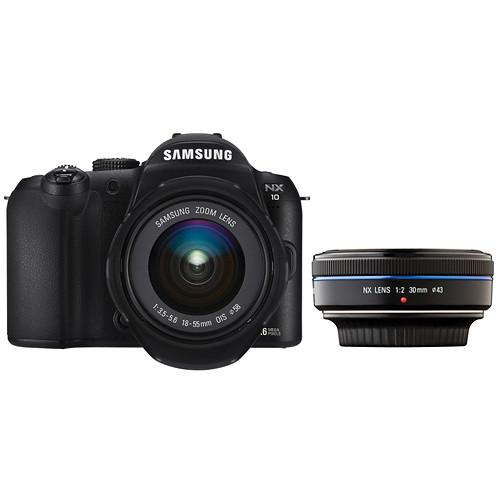 Samsung NX-10 Digital Camera with 18-55mm & 30mm Lenses