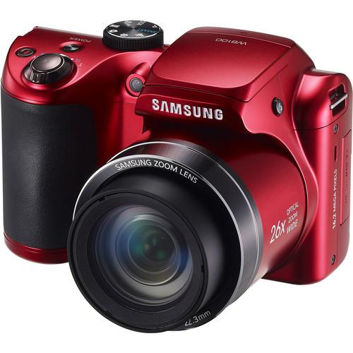 Samsung WB100 Digital Camera (Red)