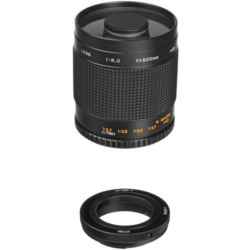 Samyang 500mm f/8.0 Mirror Lens with Canon Lens Adapter Kit