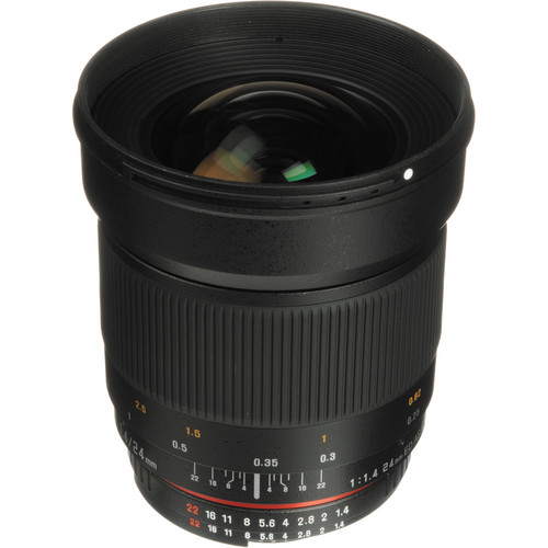 Samyang 24mm f/1.4 ED AS UMC Wide-Angle Lens for Nikon