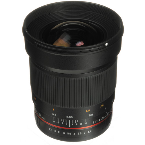Samyang 24mm f/1.4 ED AS UMC Wide-Angle Lens for Canon