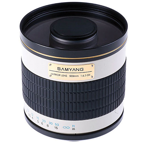 Samyang 500mm f/6.3 Mirror Lens (White)