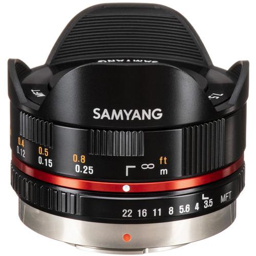 Samyang 7.5mm f/3.5 UMC Fisheye MFT Lens - Black