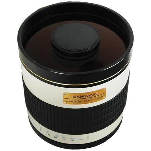 Samyang 800mm f/8.0 Mirror T-Mount Lens (White)