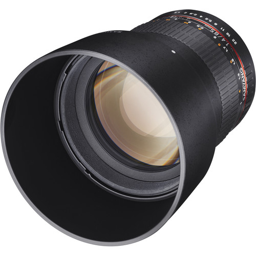 Samyang 85mm f/1.4 Aspherical Lens for Nikon With Focus Confirm Chip
