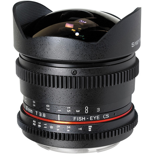 Samyang 8mm T/3.8 Fisheye Cine Lens for Canon
