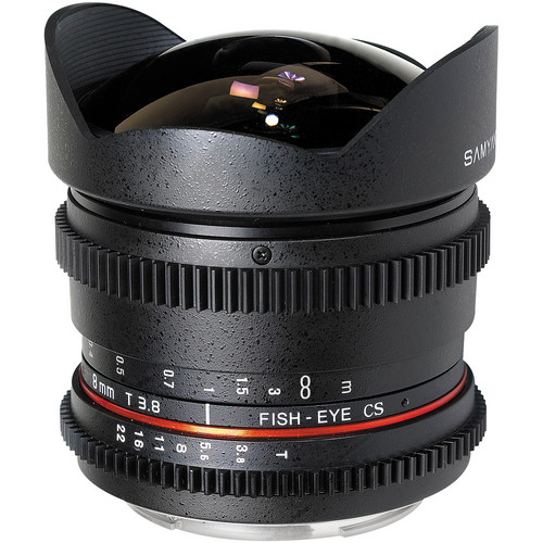 Samyang 8mm T/3.8 Fisheye Cine Lens for Nikon