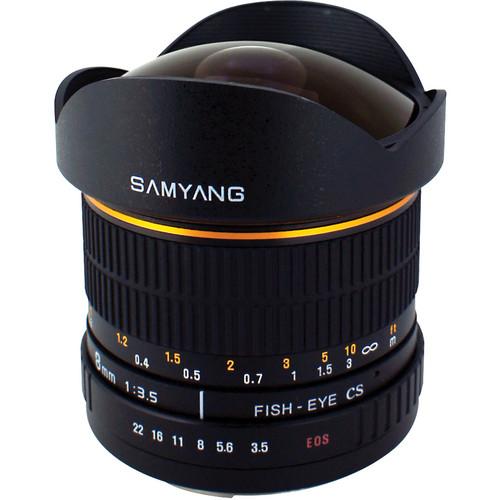 Samyang 8mm Ultra Wide Angle f/3.5 Fisheye Lens for Canon Mount