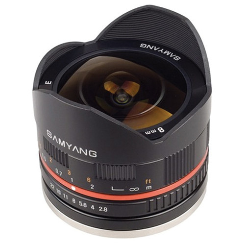 Samyang 8mm f/2.8 Fish-eye Lens for Sony E-mount (Black)