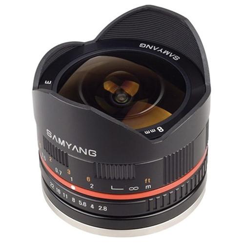 Samyang 8mm f/2.8 Fish-eye Lens for Samsung NX Mount (Black)
