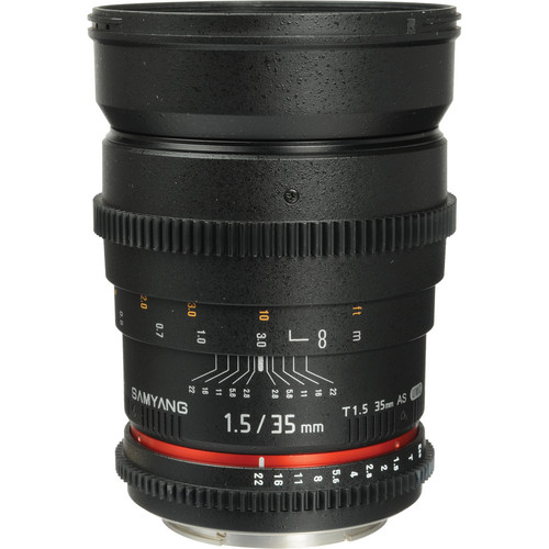 Samyang 35mm T1.5 Cine Lens for Canon EF