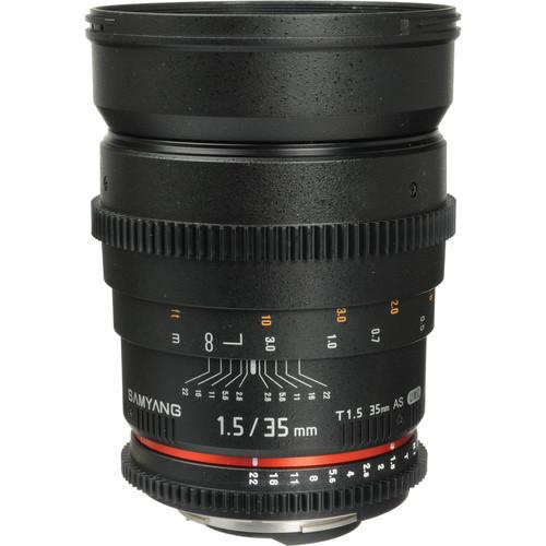 Samyang 35mm T1.5 Cine Lens for Nikon F
