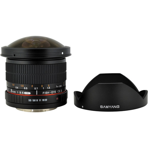 Samyang 8mm f/3.5 HD Fisheye Lens with Removable Hood for Sony