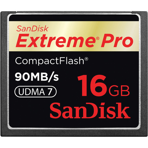 SanDisk 16GB CompactFlash Memory Card Extreme Pro 600x UDMA