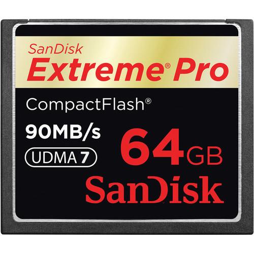 SanDisk 64GB CompactFlash Memory Card Extreme Pro 600x UDMA
