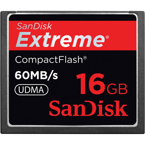 SanDisk 16GB CompactFlash Memory Card Extreme 400x UDMA