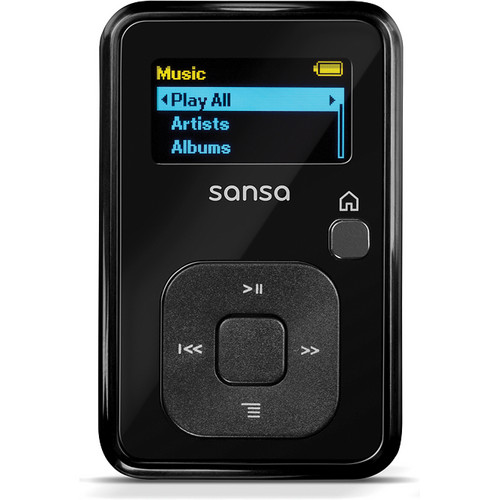 SanDisk 8GB Sansa Clip+ MP3 Player (Sleek Black)