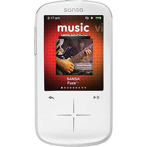 SanDisk 8GB Sansa Fuze+ MP3 Player White