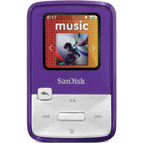 SanDisk Sansa Clip Zip MP3 Player (4GB, Purple)