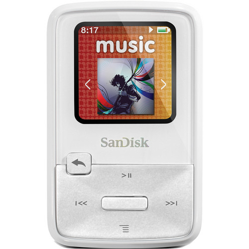 SanDisk Sansa Clip Zip MP3 Player (4GB, White)