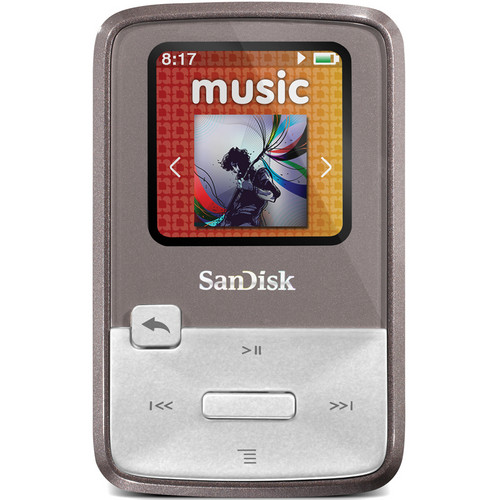 SanDisk Sansa Clip Zip MP3 Player (8GB, Grey)