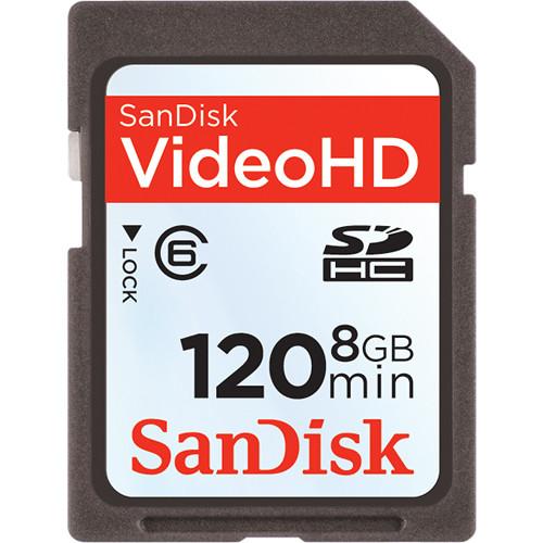 SanDisk 8GB Video HD SDHC Memory Card