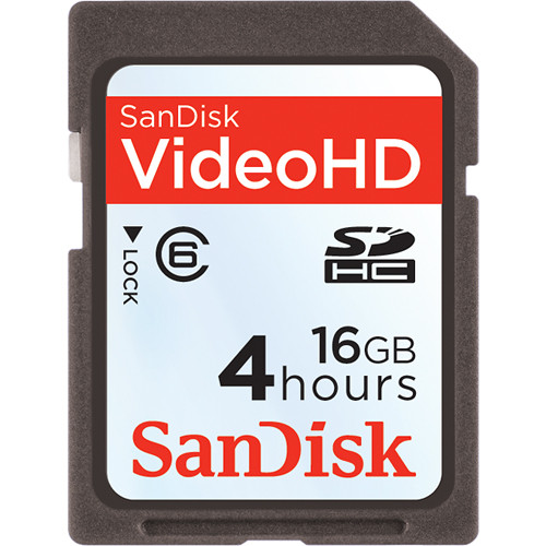 SanDisk 16GB Video HD SDHC Memory Card