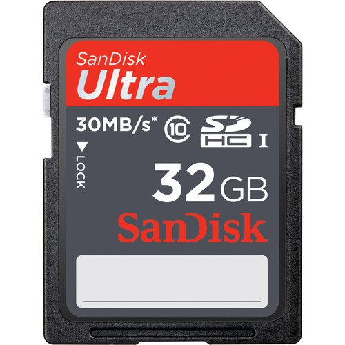 SanDisk 32GB SDHC Memory Card Ultra Class 10 UHS-1