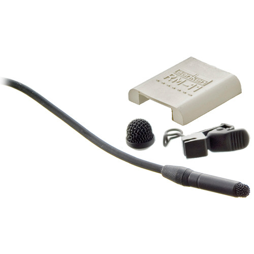 Sanken COS-11D Omni Lavalier Microphone with Reduced Sensitivity & 9.8' Cable with Unterminated Pigtail Leads (with Accessories, Black)