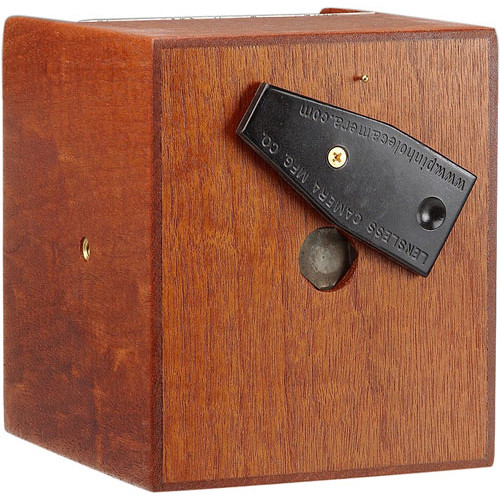 "Lensless 4 x 5"" Pinhole Camera (75mm / 3"" Wide-Angle, Mahogany)"