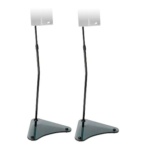SANUS Adjustable Satellite Speaker Stands, Model HTB4B (Black)