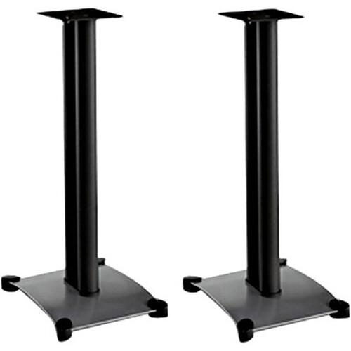 """SANUS SF26B 26"""" Steel Foundations Speaker Stand - Pair - Black"""