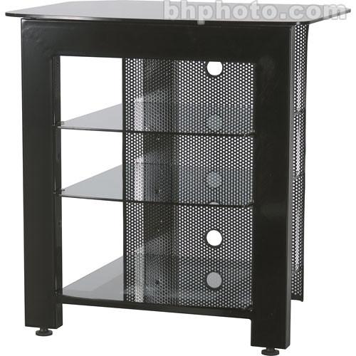 SANUS 4-Shelf Steel Audio Video Stand (Black)