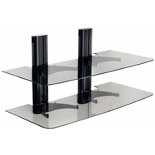 SANUS VF2022 Two Shelf Dual Column AV Wall Mount
