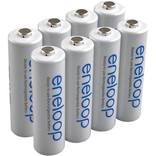 Sanyo Eneloop AA Rechargeable NiMH Batteries (8-Pack)