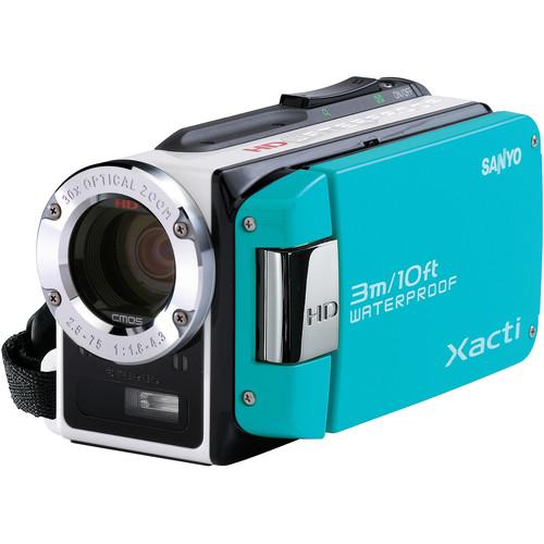 Sanyo Dual Camera Xacti 720p HD VPC-WH1 Camcorder (Blue)
