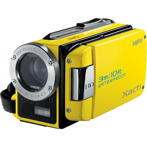 Sanyo Dual Camera Xacti 720p HD VPC-WH1 Camcorder (Yellow)