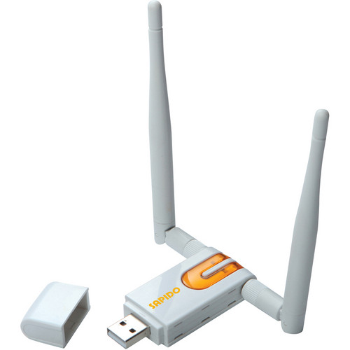 Sapido 300 Mbps 2.4/5GHz Wireless-N Dual-Band High Power USB Adapter