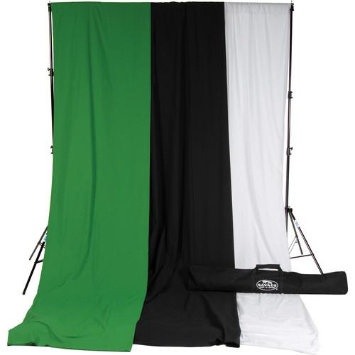 Savage Accent Muslin Background Kit (10 x 24', White/Black/Green)