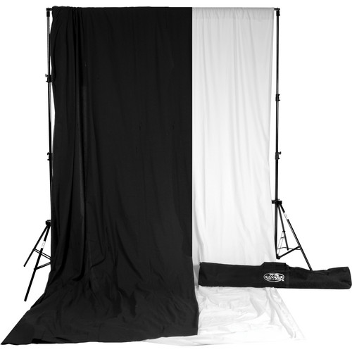 Savage Accent Muslin Background Kit (10 x 24', White Black)