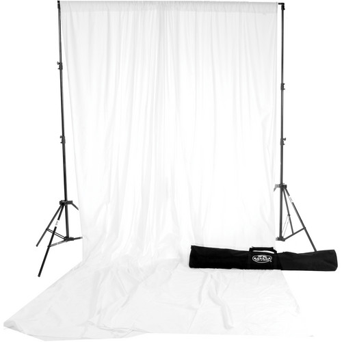 Savage Accent Muslin Background Kit (10 x 24', White)