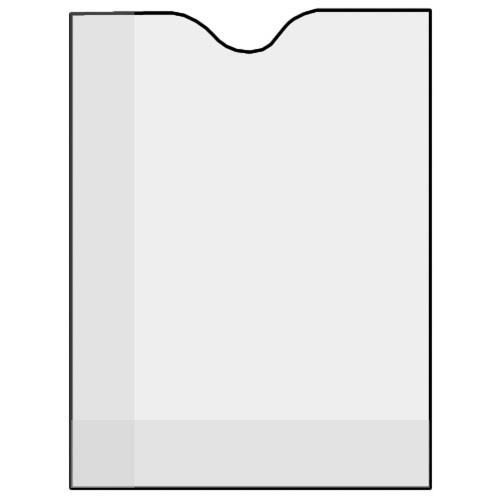 "Savage Glassine Envelope with Open End for 4 x 5"", Holds One Sheet - 50 Pack"