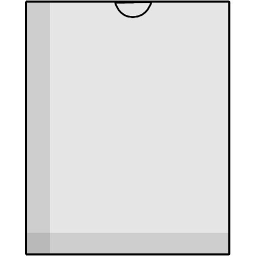 "Savage Glassine Envelope with Open End for 8 x 10"", Holds One Sheet - 50"