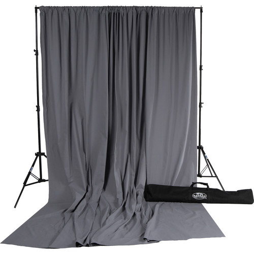 Savage Accent Muslin Background Kit (10 x 24', Gray)